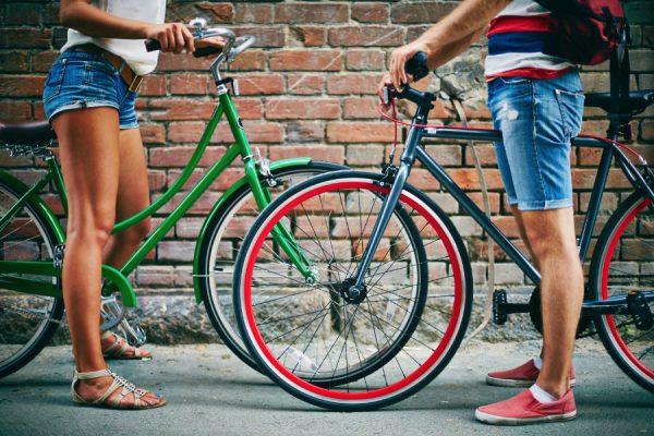 weekend on bicycles with keyless padlock